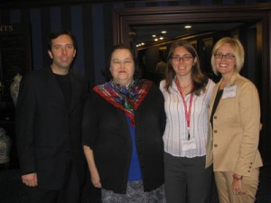 Dr. Andrew Paul Williams, Dr. Lynda Lee Kaid, Dr. Kristen Landreville & Dr. Kaye Sweetser catch up at ICA 2005.